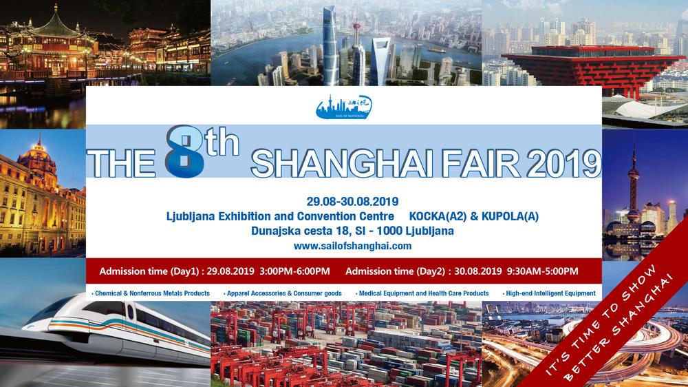 The 8th Shanghai Fair in Slovenia 2019 - Exhibitor List