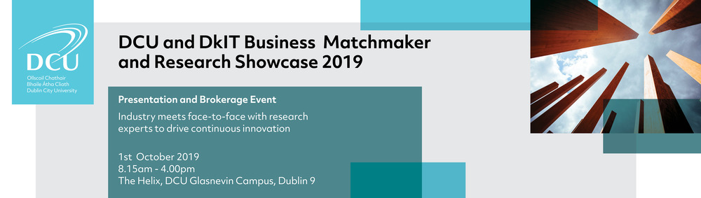 Image result for DCU & DkIT Business Matchmaker and Research Showcase 2019