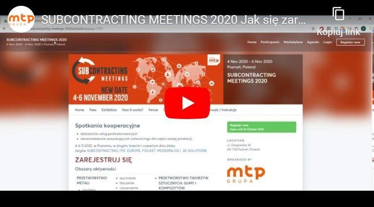 Jak się zarejestrować i efektywnie uczestniczyć w SUBCONTRACTING MEETINGS