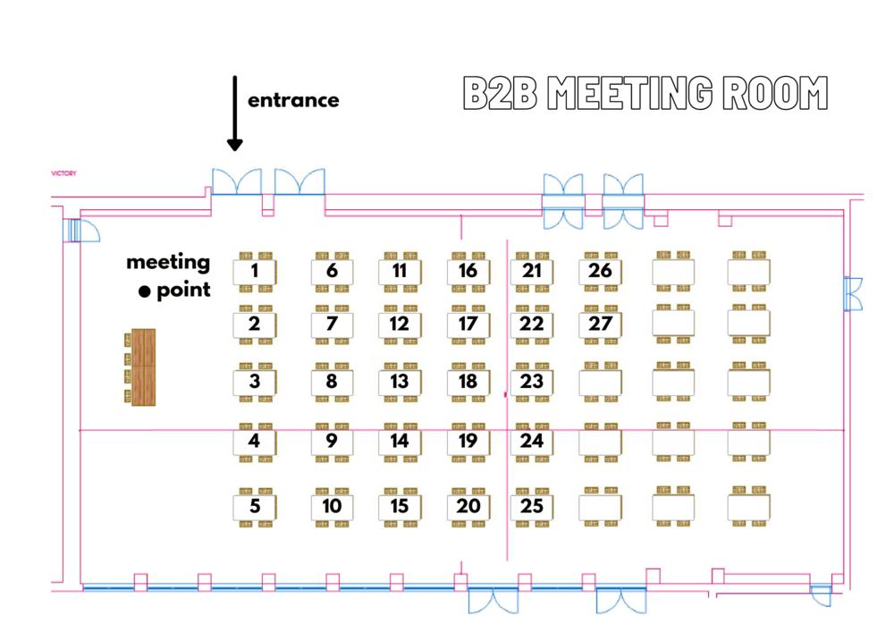 B2B Meeting room floor plan
