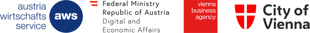 Logos: Austria Wirtschaftsservice, Austrian Federal Ministry for Digital and Economic Affairs, Vienna Business Agency, City of Vienna